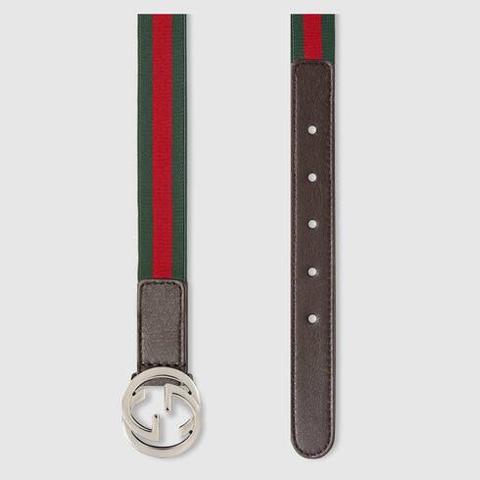 Cinturón Niño Con Tribanda de Gucci en 21 Buttons