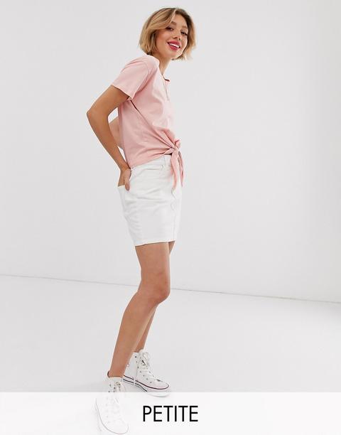 negozio online c6de3 b8cee Miss Selfridge Petite - Minigonna Di Jeans Bianca - Crema from ASOS on 21  Buttons