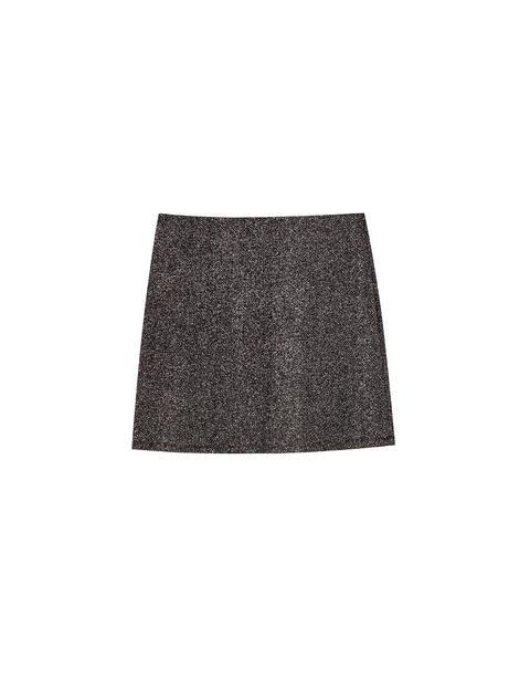 Minifalda Negra Brillo