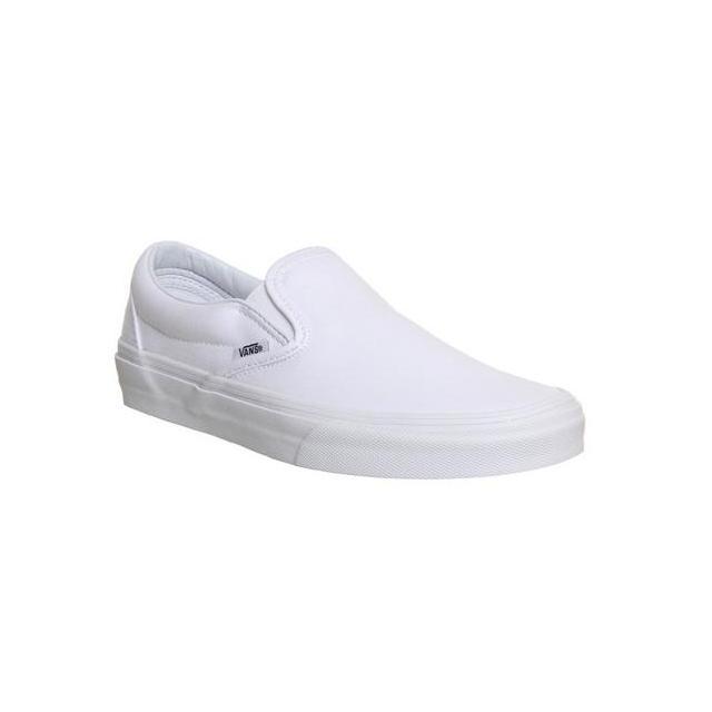 Vans Classic Slip On Shoes White Mono