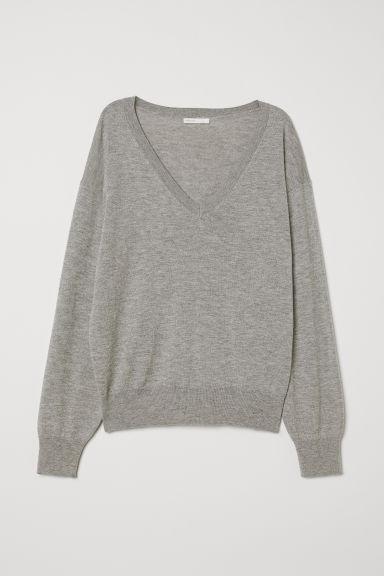 online retailer db5a3 fc9b1 Pullover Aus Wollmischung - Grau - Damen from H&M on 21 Buttons