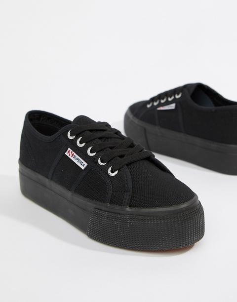 Superga - 2790 Linea - Sneakers Flatform Nere - Nero