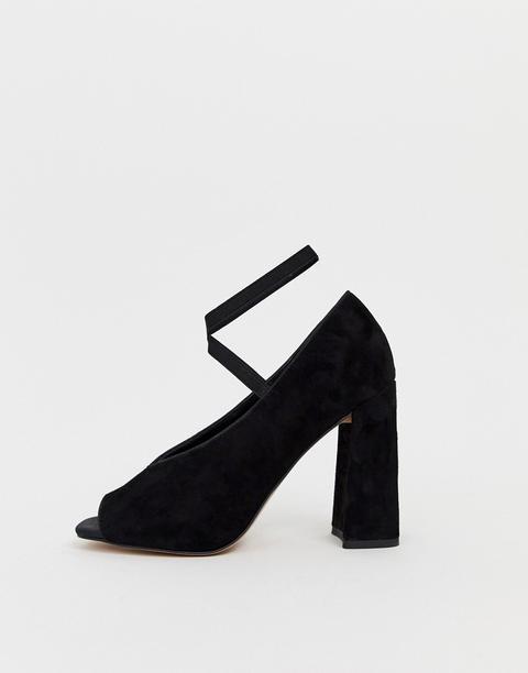 Zara High Heels schwarz mit Fransen
