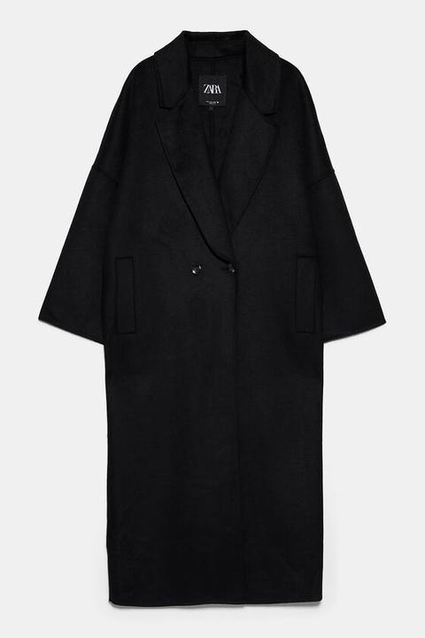 Abrigo Oversize Largo de Zara en 21 Buttons