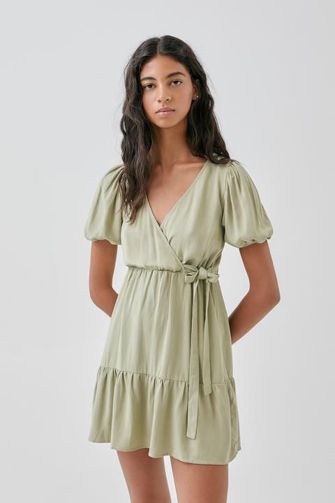 Vestido Mini Cruzado Rústico