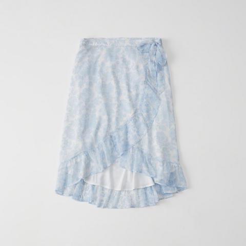 Chiffon Wrap Midi Skirt De Abercrombie Fitch En 21 Buttons