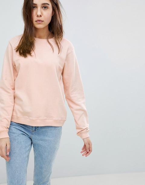 Asos Design Ultimate Sweatshirt In Pink