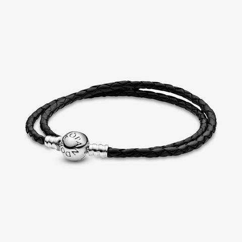 double bracelet cuir pandora