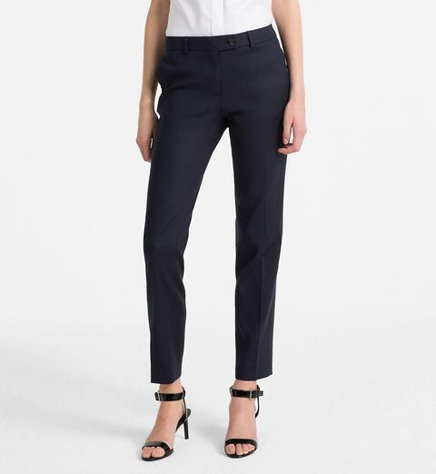 Pantalones Slim De Algodón Elástico