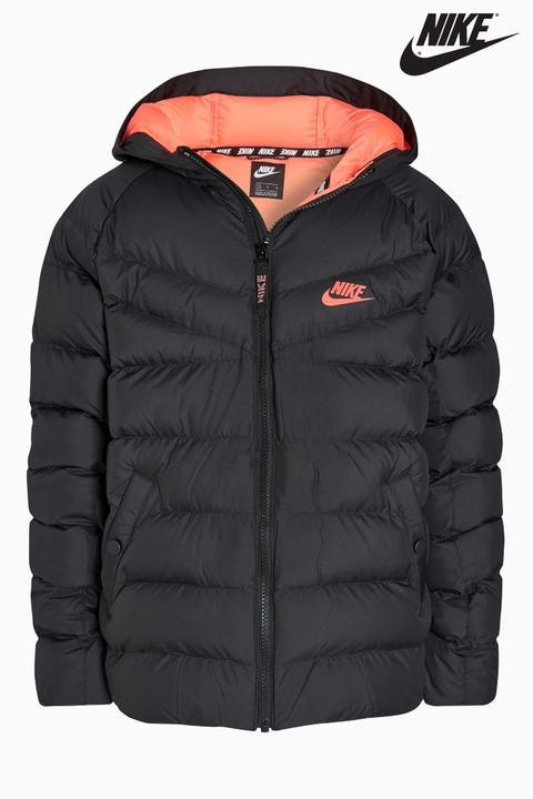 Girls Nike Black And Pink Padded Jacket