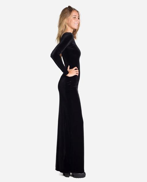 Vestido Gala Velvet · Negro