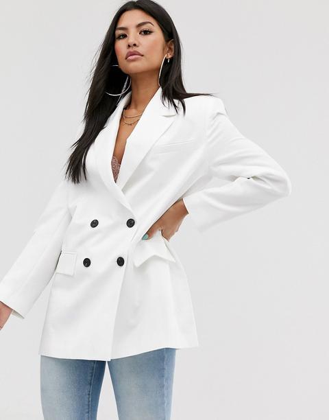 Americana Blanca Dad De Asos Design-blanco