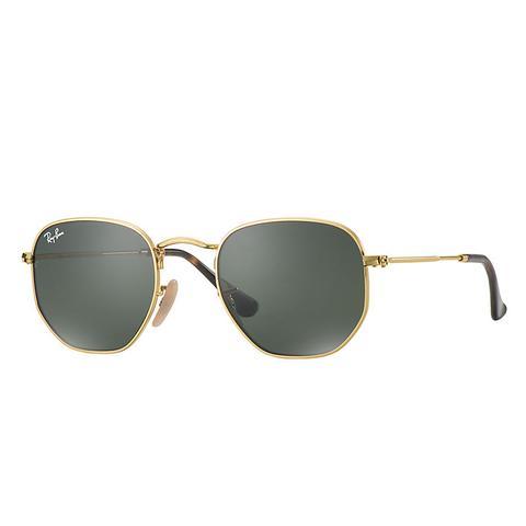 Hexagonal Flat Lenses Herren Sunglasses Gläser: Grün, Frame
