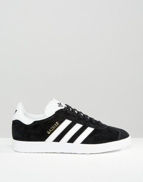 Adidas Originals - Gazelle - Sneakers Nere Scamosciate - Nero