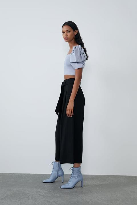 Pantalón Culotte Cinturón