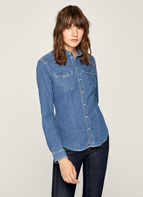Camisa Vaquera Abotonada Rosie de Pepe Jeans en 21 Buttons