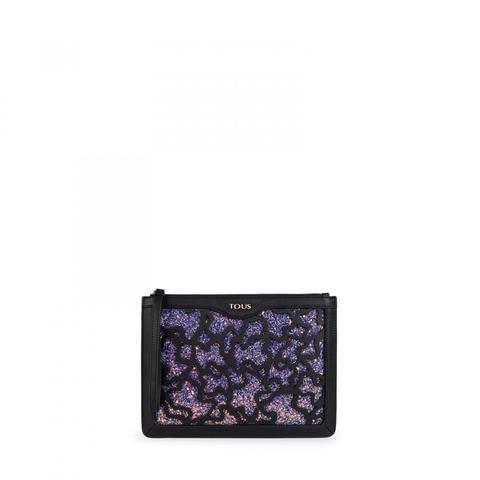 Clutch Kaos Shock En Color Negro-lila de Tous en 21 Buttons