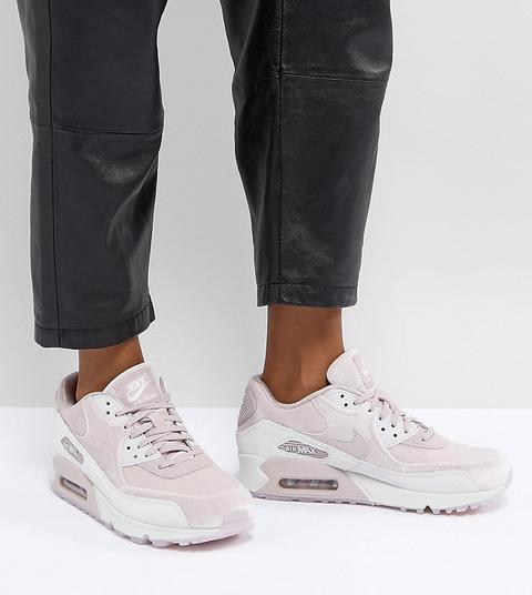 caminar excusa Excremento  Zapatillas De Deporte De Terciopelo Rosa Air Max 90 De Nike from ASOS on 21  Buttons