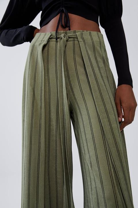 Pantalón Pareo Lazada de Zara en 21 Buttons