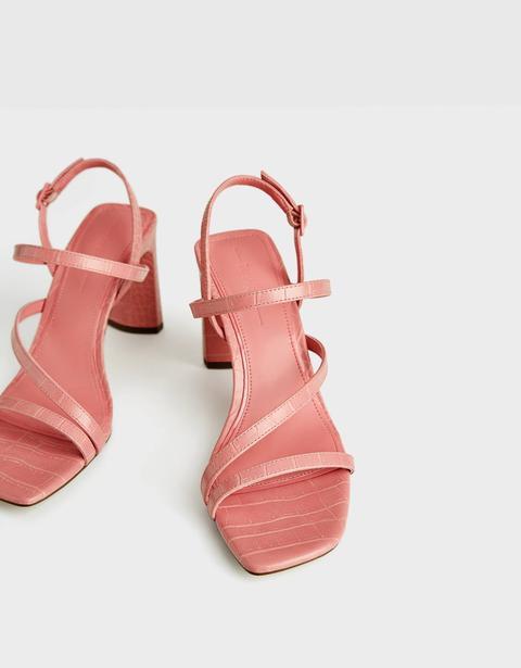 Sandales À Talon Lanières