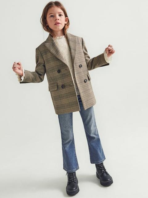 Blazer Cuadros Cruzada de Zara en 21 Buttons