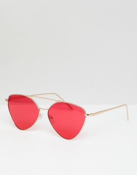 Aj Morgan - Piloten-sonnenbrille Aus Metall In Gold/rot - Gold