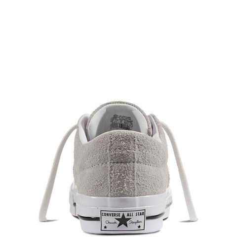 Converse One Star Premium Suede Grey, White