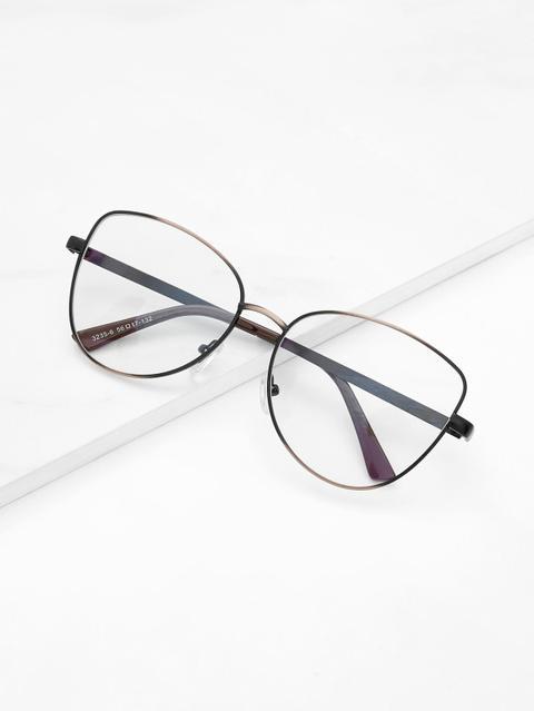 Gafas De Sol De Lentes Transparentes De Marco Metálico