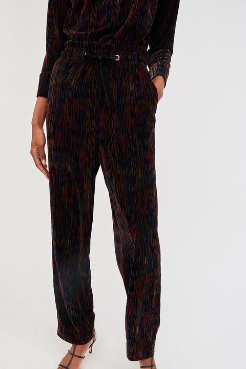 Pantalones Flama De Pana Estampada - Antik Batik