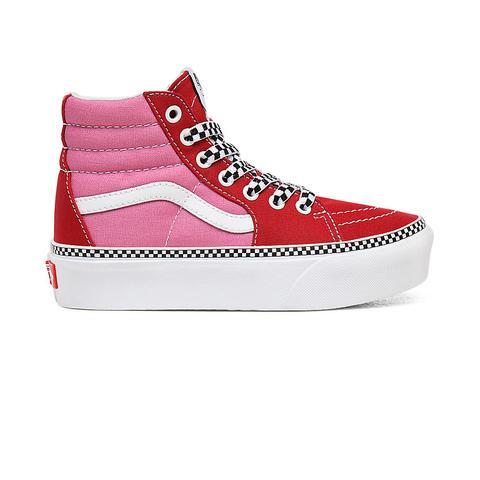 Vans Zapatillas De Niños Sk8-hi 2.0 De 2 Tonos Con Plataforma (4-8 Años) ((2-tone) Chili Pepper/fuchsia Pink) Niños Rosa de Vans en 21 Buttons
