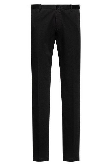 Pantalones Slim Fit En Algodón Elástico Con Lavado Suave de Hugo Boss en 21 Buttons