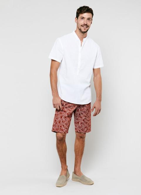 nuovi prodotti caldi colori e suggestivi ufficiale Camicia In Lino Con Collo Alla Coreana from Calliope on 21 Buttons