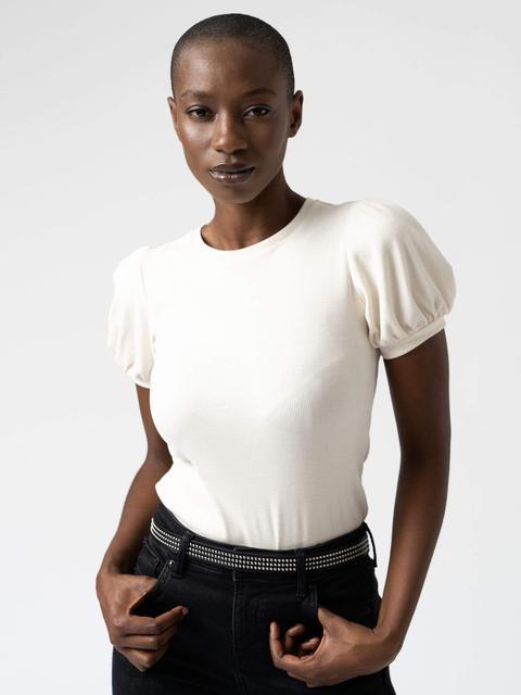 Women's Cream T-shirt Cotton Saint And Sofia® Uk