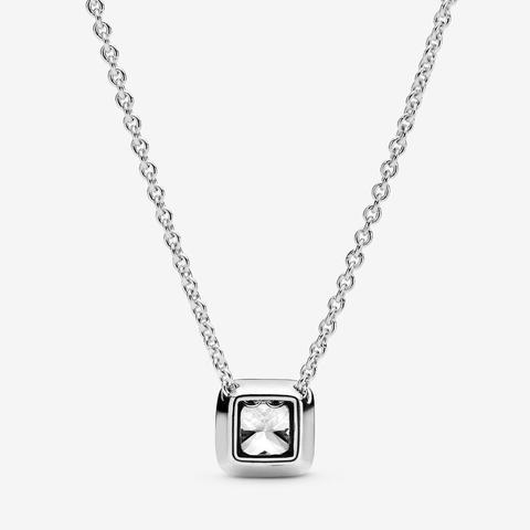 Collana Con Punto Luce Quadrato Scintillante de PANDORA en 21 Buttons
