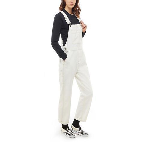 Vans Pantalón Con Peto Framework (marshmallow) Mujer Blanco de Vans en 21 Buttons