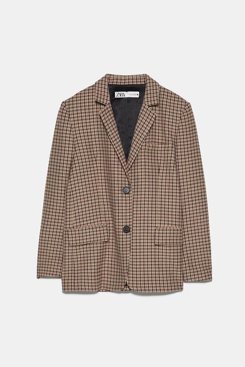 Blazer Cuadros Oversize de Zara en 21 Buttons