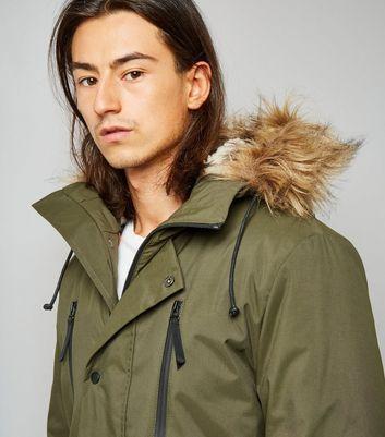Khaki Parka Jacket de NEW LOOK en 21 Buttons