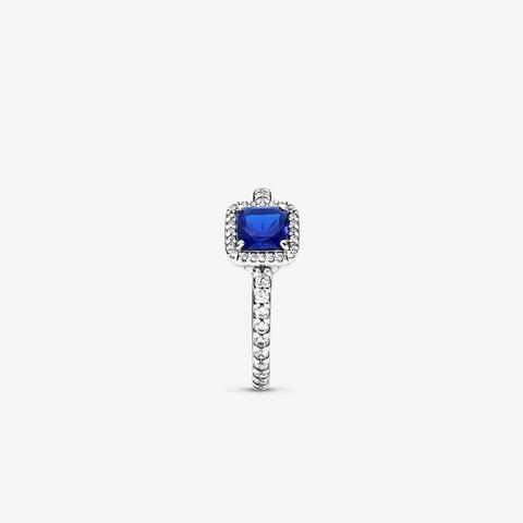Anello Punto Luce Scintillante Con Pietra Blu Quadrata de PANDORA en 21 Buttons