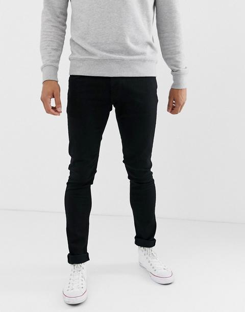 8a84e6e6a678 Nudie Jeans Co - Tight Terry - Jeans Super Skinny Nero Slavato Ever - Nero  de