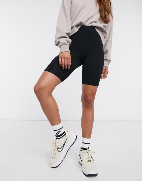 Pantalones Cortos Tipo Legging Básicos De Asos Design-negro