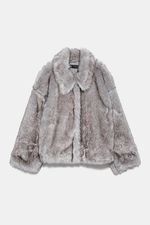 Abrigo Corto Efecto Pelo de Zara en 21 Buttons