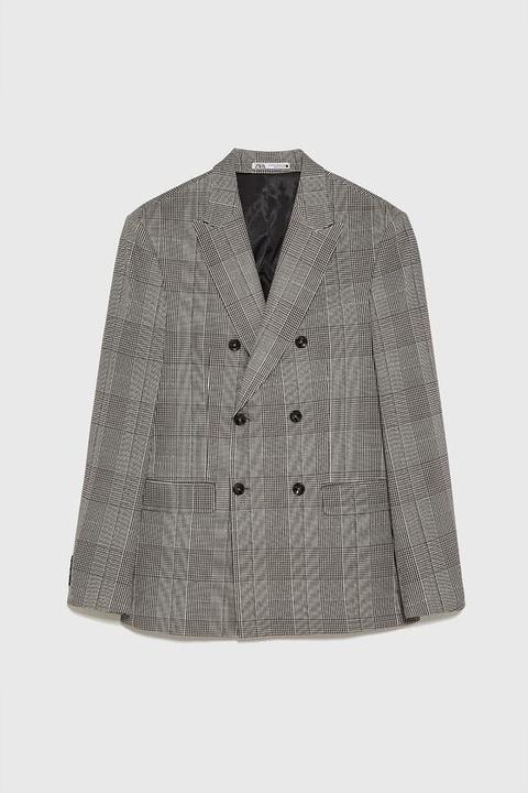 Blazer Doppiopetto A Quadri de Zara en 21 Buttons