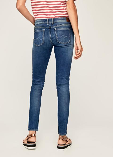 Soho Skinny Fit Mid Waist Jeans