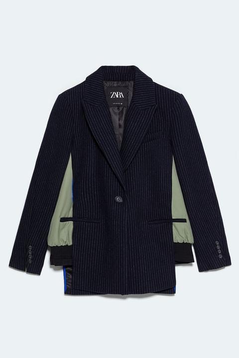 Blazer Bomber Combinada de Zara en 21 Buttons