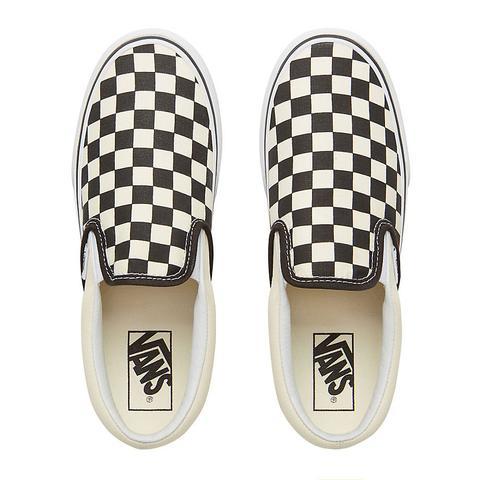 Vans Scarpe Checkerboard Classic Slip-on Platform (black & White Chckerboard-white) Donna Nero