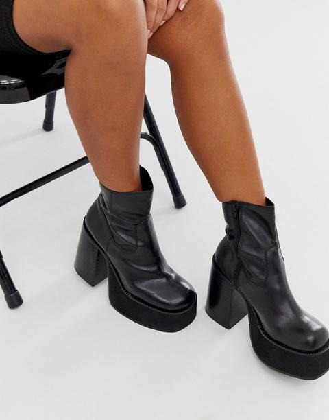 Kaltur Black Chunky Platform Boots from