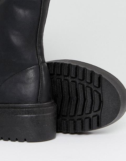 Asos Design Attitude Grosses Bottines À Lacets Noir from ASOS on 21 Buttons