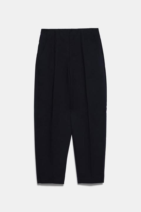 Pantalón Cropped Pinzas