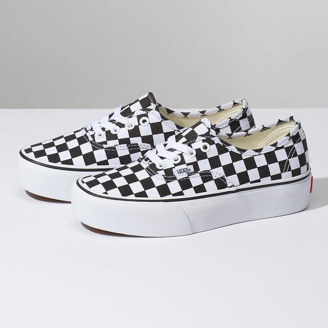 vans checkerboard authentic platform