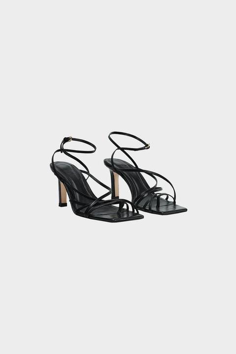 Sandalette Aus Leder Mit Quadratischer Spitze from Zara on 21 Buttons